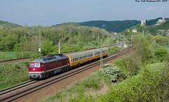 132 293 EBS Saaleck 01.05.2019 (Falk Hoffmann) Tags: diesellok eisenbahn bahnhof sonderzug reichsbahn dr elok sonderfahrt städteexpres ludmilla br132 br232