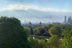 Naval College and Greenwich Park: Angkor Wat vibe ? (marc.barrot) Tags: shotoniphone landscape pond trees park uk se10 london eastgreenwich cityoflondon isleofdogs greenwichpark oldroyalnavalcollege