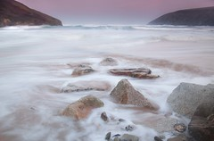 Mawgan Porth (Julian Barker) Tags: mawgan porth newquay cornwall south west england uk europe atlantic ocean sea seashore beach country crimson sky waves breakers drama atmosphere dawn sunrise canon dslr 5d mkii julian barker