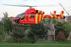 G-EHEM Essex & Herts Air Ambulance (kertappa) Tags: img8356 air ambulance herts hertfordshire essex hems doctor paramedics hospital gehem emergency helicopter harwoods adventurous playground watford