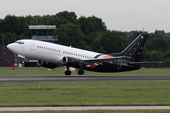 Titan Airways 737-3L9 (nickchalloner) Tags: gzapw boeing 7373l9 737300 classic 737 b737 3l9 300 titan airways awc zt london stansted airport egss stn