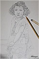 Mi hobby (bruixazul poc a poc...) Tags: dibujo retrato lapiz difumino papel niña lookingcloseonfriday hobby