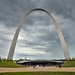Symmetric View of Gateway Arch with Cloudy Skies (Gateway Arch National Park)