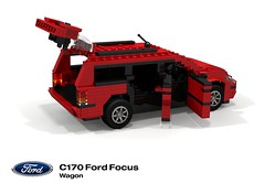 Ford C170 Focus Wagon (2001 Facelift) (lego911) Tags: ford motor company focus c170 wagon estate 2001 2000 auto car moc model miniland lego lego911 ldd render cad povray europe afol