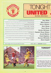 Manchester United vs Nottingham Forest - 1983 - Page 12 (The Sky Strikers) Tags: manchester united nottingham forest milk cup road to wembley old trafford review official season programme 30p