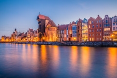 Blue hour (Vagelis Pikoulas) Tags: blue hour april gdansk sea seascape 2019 landscape water reflection reflections colour colours colors color view long exposure night nightscape poland europe travel holidays architecture urban city cityscape