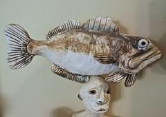 Fish Balancing (ricko) Tags: fish head ceramic folkart figurines balanced 122365 2019