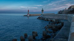 Bastia (W.MAURER foto) Tags: blue lighthouse leuchtturm meer wasser hafen harbour seascape abenddämmerung sea seaside evening water france corse korsika corsica bastia fuji fujix100f landschaft travel travelphotography reise mittelmeer eveninglight calm quiet