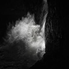 wave and waterfall (nlwirth) Tags: nlwirth yup ea wave ocean oregon coast water light rock