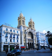 exterior Catedral de San Vicente de Paul iglesia catolica Tunez 03 (Rafael Gomez - http://micamara.es) Tags: exterior catedral de san vicente paul iglesia catolica tunez ciudad edificio historico centro