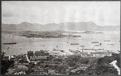 View of Hong Kong harbour, ca. 1907 (Charles in Shanghai) Tags: charles shanghai holland china trading company handelscompagnie hchc hong kong hongkong harbour blackandwhite bw monochrome stadsarchief rotterdam httpwwwstadsarchiefrotterdamnlen gwulo