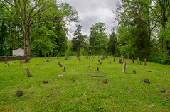Red Oak Cemetery — Union Township, Brown County, Ohio (Pythaglio) Tags: cemetery redoak presbyterian historic early graves stones gravestones trees markers browncounty uniontownship ripley ohio unitedstatesofamerica grass stone