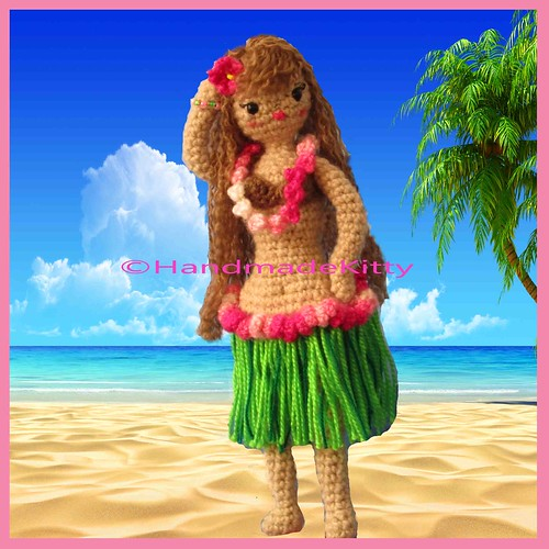 Anela the Hula Girl Crochet Pattern for the Kindle - Sayjai ... | 500x500