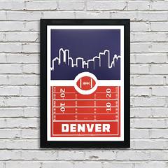 Denver Broncos Poster Art (ShaferPrintShop) Tags: denver denverbroncos football videogame posterart denverbroncosposter