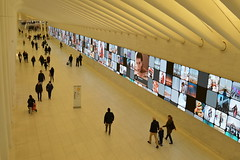 World Trade Centre Station, New York, USA (fame&obscurity) Tags: newyork newyorkcity usa unitedstatesofamerica worldtradecenter worldtradecenterstation station terminal concourse advertising pedestrians unitedstates ny nyc manhattan advert adverts commercial commercials