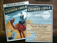 April 27th, 2019 Crimes on the Nile, Theatre Royal Windsor (karenblakeman) Tags: theatre programme flyer crimesonthenile theatreroyalwindsor windsor berkshire uk 2019 april 2019pad