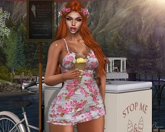Time For An Ice Cream (Bryan Trend) Tags: head catwa catya body maitreya runaway hair style hud darkfire babydoll doll belleza freya isis slink hourglass female woman new blog post sl second life secondlife