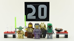 May the 4th be with you🍪 (Alex THELEGOFAN) Tags: lego legography minifigure minifigures minifig minifigurine minifigs minifigurines star wars day fourth may force be with you 20 years boba fett jar binks zam wesell yoda tan black