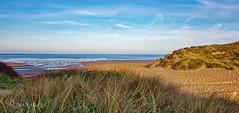 Cool sea warm sand (Through Bri`s Lens) Tags: northdevon croydebay sanddunes light shade shadow brianspicer canon5dmk3 canon1635f4
