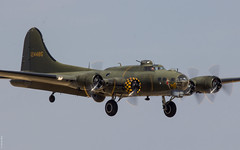 Boeing B-17 Flying Fortress 'Sally B' on final approach at Flying Legends 2018, Duxford UK (Jeroen.B) Tags: 2018 air airshow duxford egsu flying flyinglegends legends show uk warbird boeing b17 fortress sally b adf