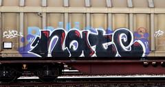 graffiti on freights (wojofoto) Tags: amsterdam nederland netherland holland graffiti streetart cargotrain freighttraingraffiti freighttrain freights fr8 vrachttrein wojofoto wolfgangjosten trein train nate