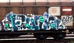 graffiti on freights (wojofoto) Tags: amsterdam nederland netherland holland graffiti streetart cargotrain freighttraingraffiti freighttrain freights fr8 vrachttrein wojofoto wolfgangjosten trein train funk