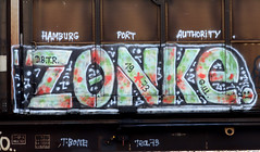 graffiti on freights (wojofoto) Tags: amsterdam nederland netherland holland graffiti streetart cargotrain freighttraingraffiti freighttrain freights fr8 vrachttrein wojofoto wolfgangjosten trein train zonke