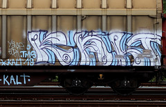 graffiti on freights (wojofoto) Tags: amsterdam nederland netherland holland graffiti streetart cargotrain freighttraingraffiti freighttrain freights fr8 vrachttrein wojofoto wolfgangjosten trein train kalt