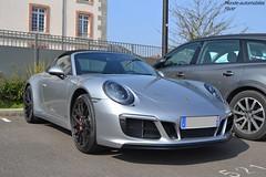 Porsche 911 Targa 4 GTS 991 MKII (Monde-Auto Passion Photos) Tags: voiture vehicule auto automobile porsche 911 targa gts coupé gris grey sportive france fontainebleau