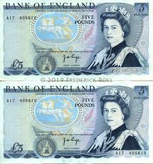 Bank of England - Misprinted £5 note (© Freddie) Tags: £5 fivepounds sterling banknote elizabethii dukeofwellington misprint queenelizabethii bankofengland