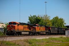Almost a Coal Train (txrailfan) Tags: coke petroleum train railroad bnsf houston texas