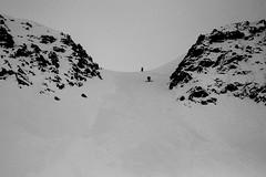 raidillon sous le col du Daunjoch pour accéder au glacier du sulztal