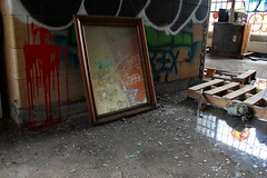Reflecting the Past (CaptJackSavvy) Tags: reflections abandonedbuilding abandoned decay urbandecay urbanexploration urbanspelunking urbanex urbex trespassing graffti old