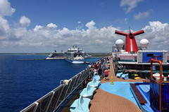 Backing into the parking place (carnival_dream_2019_0303) (ronnie.savoie) Tags: quintanaroo mexico méxico costamaya mahahual carnival carnivaldream rccl royalcaribbean symphonyoftheseas celebrityequinox celebrity