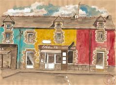 Les couleurs de Lochrist... (bigoudene46) Tags: maisons couleur lochrist paysdelorient morbihan bretagne urbansketcher usk carnettiste dessinsurlevif