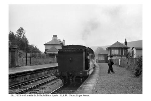 Appin. 55200 & train for Ballachulish. 10.8.59