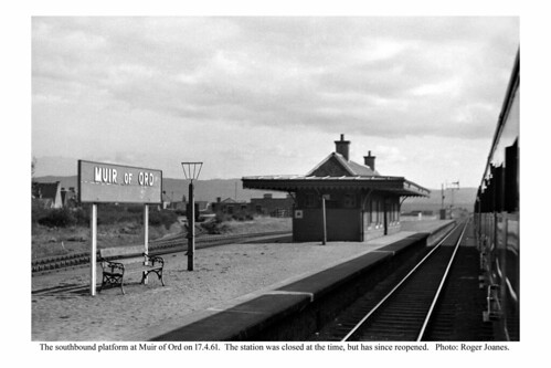 Muir of Ord station island platform. 17.4.61
