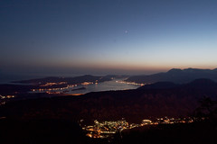 Kotor Bay at Night (Sondre_RS) Tags: stars vacation roadtrip travel steep mountains kotor tivat montenegro canon eos 30d ef 1740mm f4l ef1740mm f4