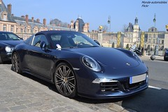 Porsche 911 Targa 4S 991 (Monde-Auto Passion Photos) Tags: voiture vehicule auto automobile porsche 911 targa 4s 991 bleu blue sportive france fontainebleau