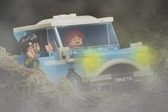 LEGO Harry Potter Ford Anglia (weeLEGOman) Tags: lego harry potter ron weasley chamber secrets blue ford anglia fog mist spider minifigure minifigures vehicle car toy macro photography uk nikon d7100 105mm rob robert trevissmith weelegoman