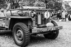 Jeep (Rich Presswood) Tags: blackandwhite bw mono monochrome silverefexpro2 fujiacros100 mitakonzhongyi35mmf095 mitakon adobelightroom availablelight staveleyhall fuji fujixpro2 mirrorless 1940s military willys jeep usa