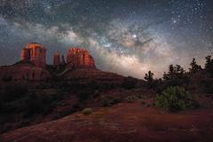 Sedona-1196 (Michael-Wilson) Tags: milkyway stars astrophotography michaelwilson cathedralrock sedona arizona southwest night dark sandstone oakcreek