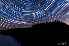 Star Trail (adriankandes) Tags: kennickreservoir reservoir dartmoor night nighttime stacking startrails startrail stars