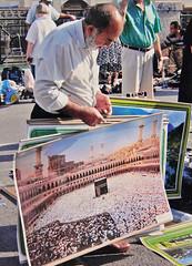 ANALOG_A_088 (apex-3) Tags: mekka hadsch hatsch pilgerstätte poster picture pilgern muslim moslem muslims muslimisch verkäufer seller selling sells verkauft anbieten flohmarkt fleamarket wien vienna austria apex strobosphere pilgrimage religiösevorschriften