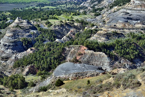 Badlands and Eroded Buttes in Theodore Roosevelt National Park