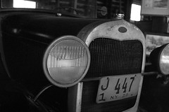 Old Timer (george.bremer) Tags: antique car classic diafine f3 ford hp5 ilford modela nikon roadster winter
