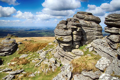 (OutdoorMonkey) Tags: dartmoor devon moor moorland tor outcrop rock greatlinkstor outside outdoor rural nature natural scenic scenery countryside cloud bluesky landscape