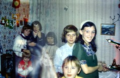 493_December1971_ArnulfStreetDoubleExposure (wrightfamilyarchive) Tags: paul clive andy keith wright arnulf street bellingham south east london se63ef christmas 1971 1970s 70s seventies