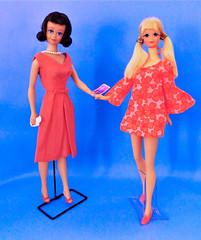 BARBIE'S BEST FRIEND (ModBarbieLover) Tags: pj midge dolls fashion barbie 1960s mattel 1963 1969 rose silk floral psychedelic talking mod vintage toy
