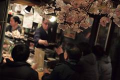 Omoide Yokocho, Shinjuku, Tokyo, Japan (Plan R) Tags: omoide yokocho pissalley shinjuku yakitori restaurant sakura blossom evening night alley leica m 240 noctilux 50mm